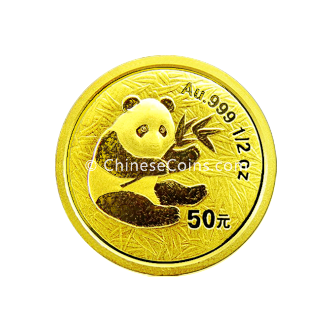 2000 1 2 Oz Gold Panda Coin Chinesecoins Com