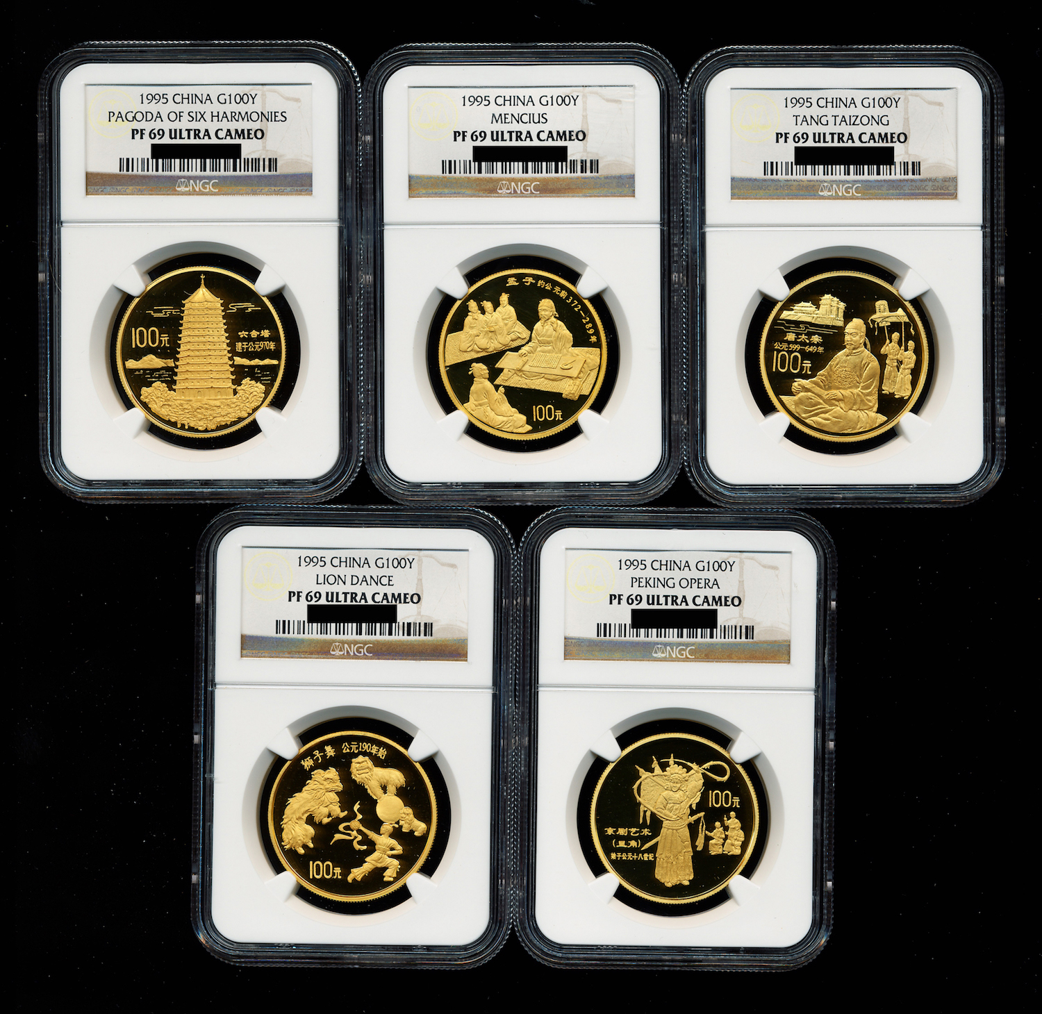 of Issuance of Panda Gold Coin 30th Anni Rectangle China 2012 Brass Medal