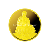 1990-1-4-oz-Gold-Great-Buddha-of-the-Temple-of-Heaven-Proof-Medal-rev