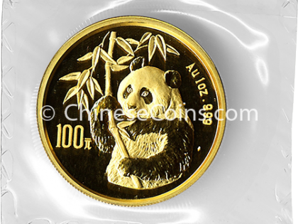 1995 1 oz Gold Panda 100 Yuan Coin