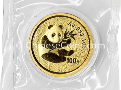 2000 1 oz Gold Panda 100 Yuan Coin