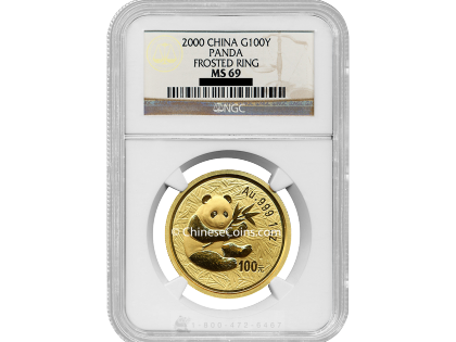 2000 1 oz Gold Panda 100 Yuan Coin NGC MS69